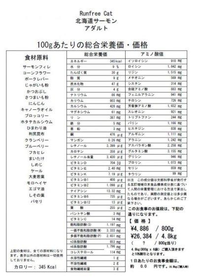 画像1: 【サンプル】ランフリーキャット 北海道サーモン(アダルト)