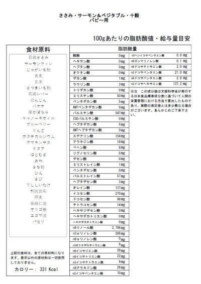 画像2: 【サンプル】ささみ・サーモン&ベジタブル・十穀(パピー用)