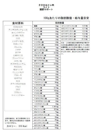 画像2: 【サンプル】ささみ&ヒレ肉(ライト・関節サポート)