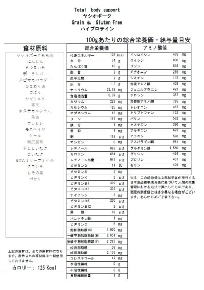 画像1: Wet Food  ヤシオポーク ハイプロテイン  (高栄養食)