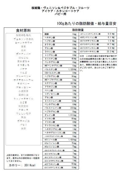 画像2: 【桜姫鶏・ヴェニソン&ベジタブル・フルーツ】 パピー用・アイケア・スキンコートケア